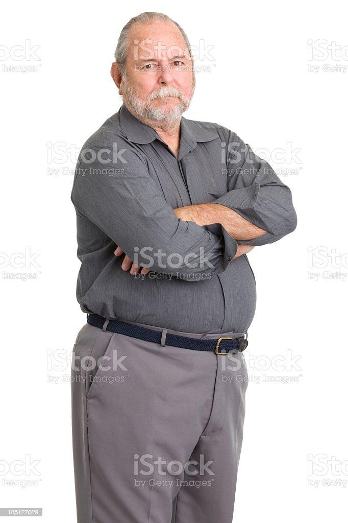 Tough Senior Man Standing Portrait royalty-free stock photo