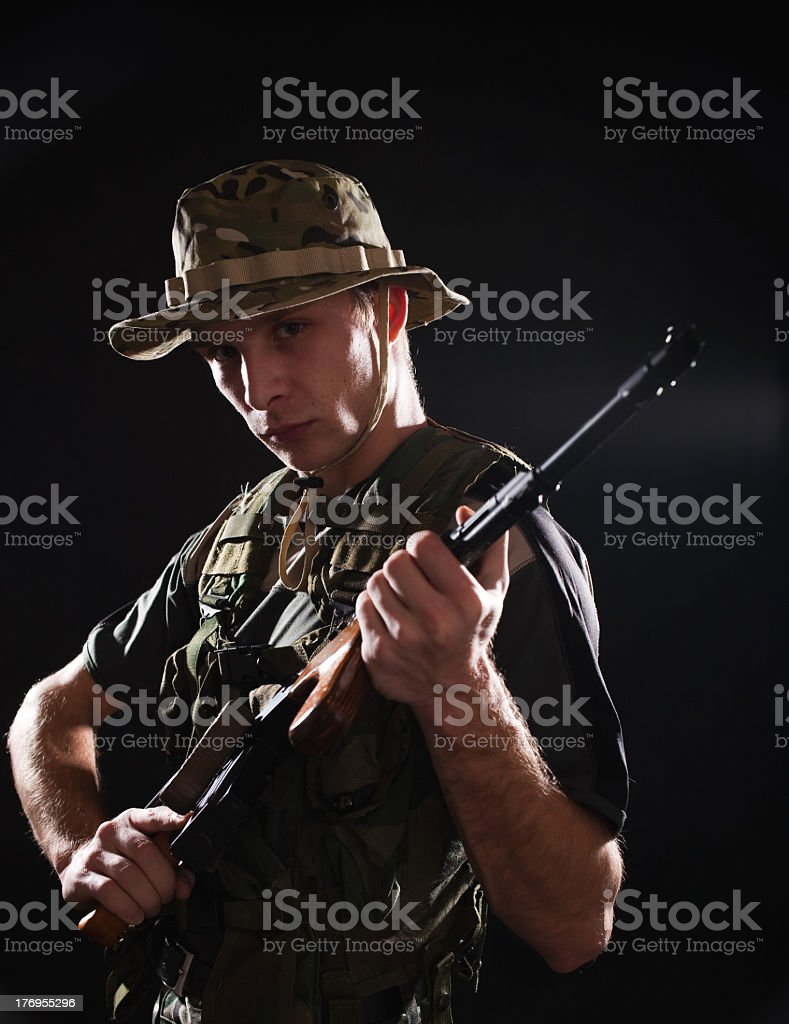 Tough soldier royalty-free stock photo