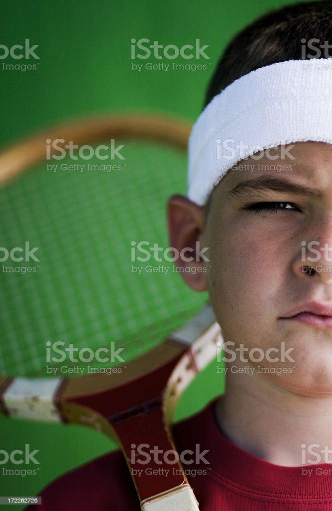 Tough Tennis royalty-free stock photo