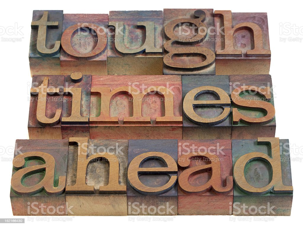 tough times ahead royalty-free stock photo