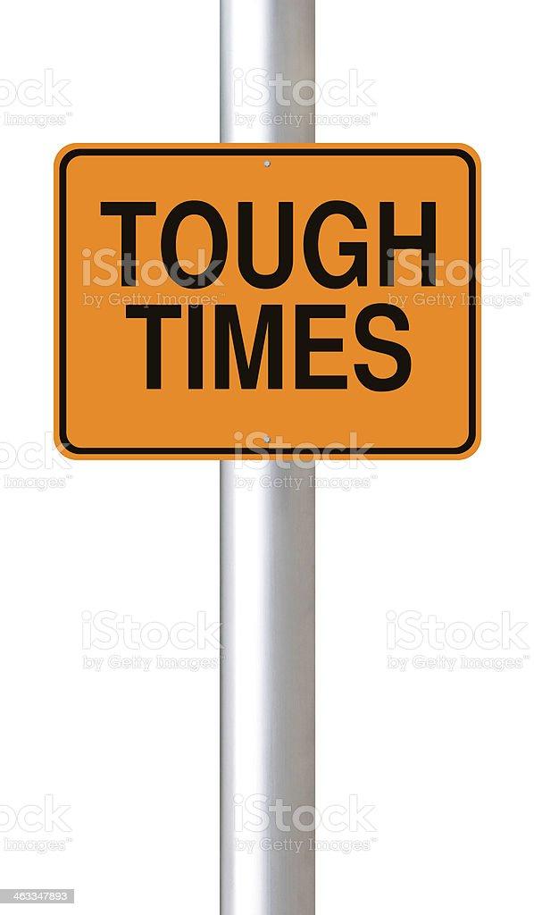 Tough Times Ahead stock photo