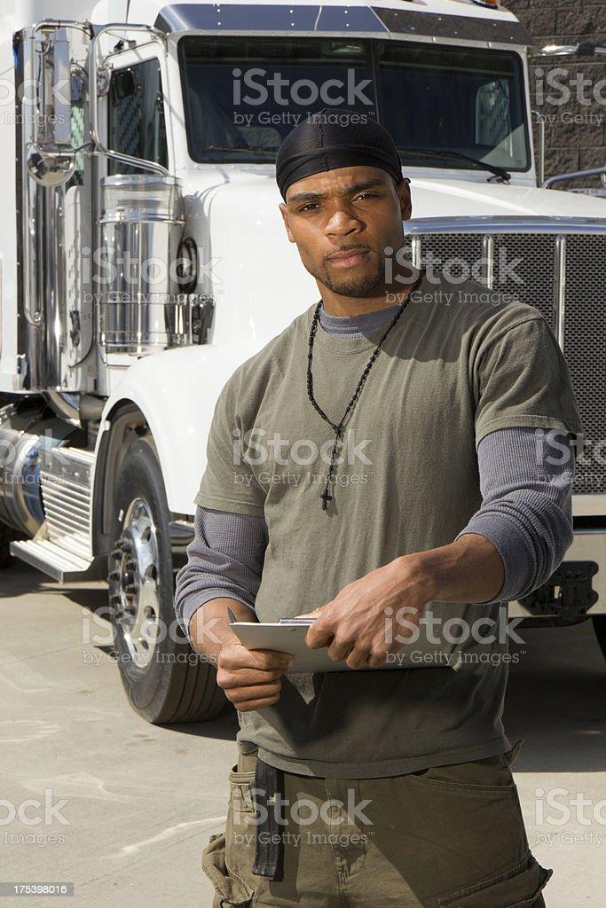 Tough Trucking royalty-free stock photo