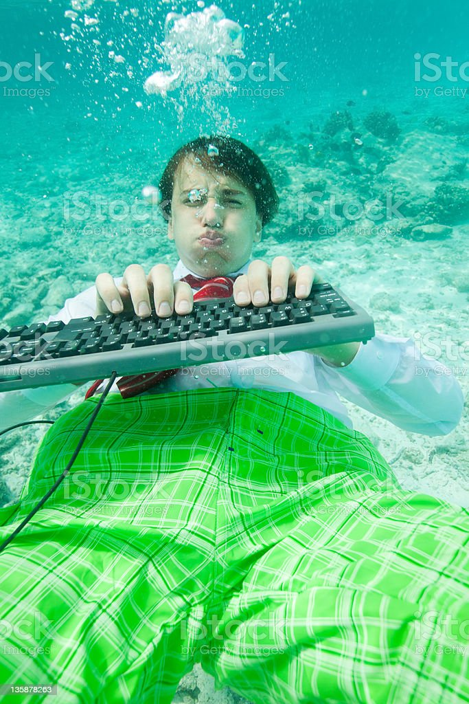 Tough working conditions stock photo