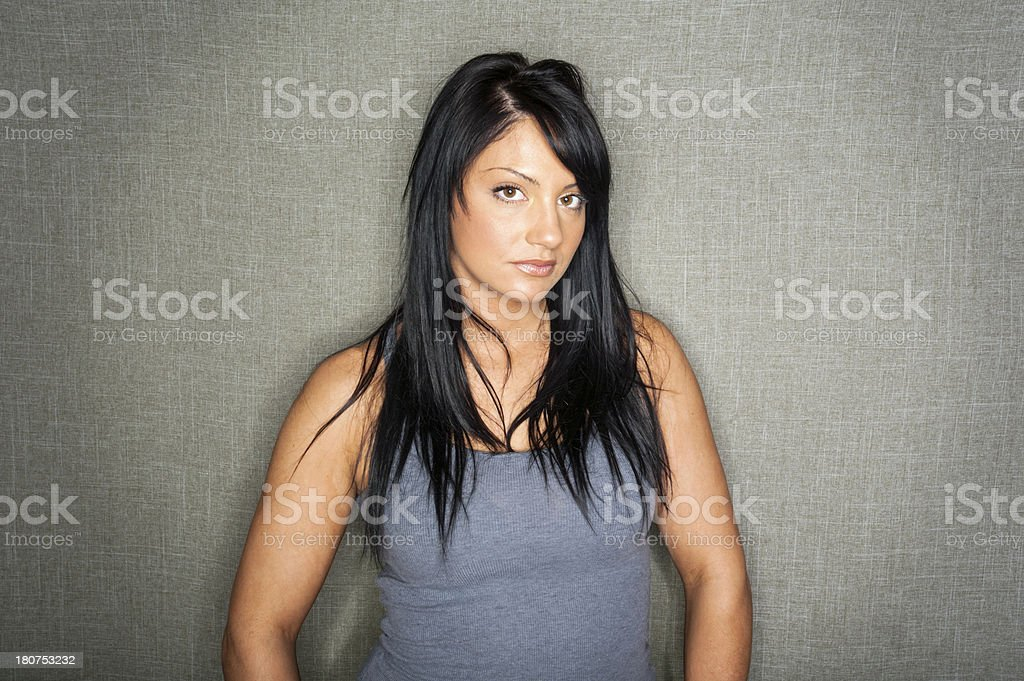 Tough Young Woman royalty-free stock photo