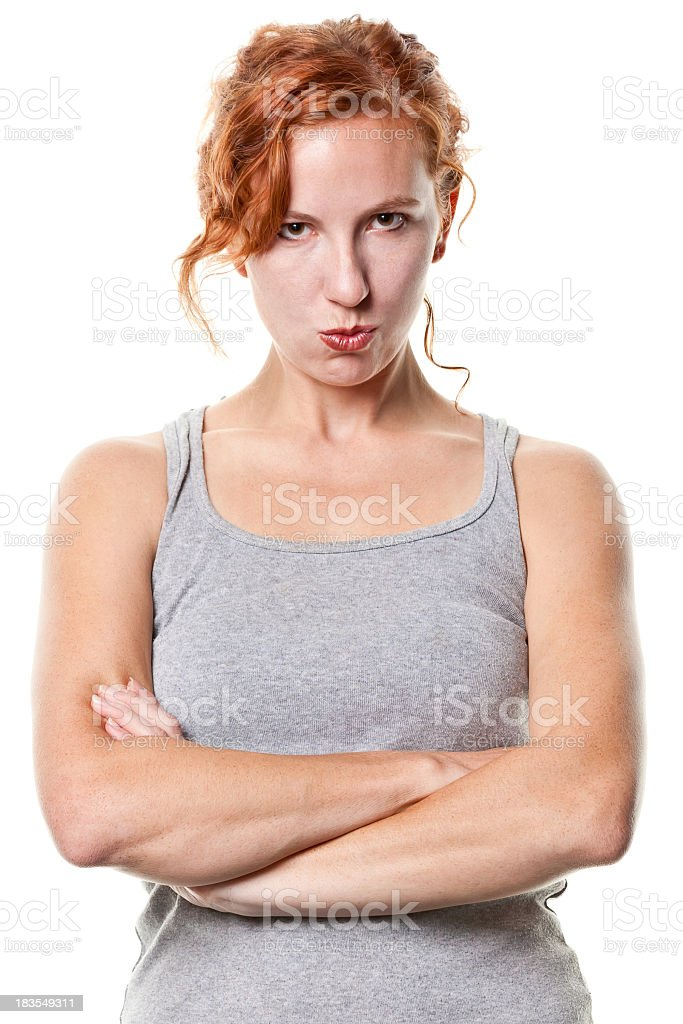 Tough Young Woman With Arms Crossed stock photo