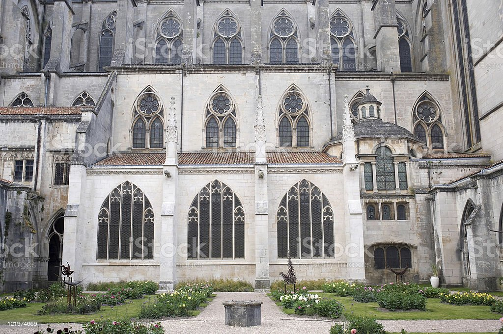 Toul (Lorraine, France) - Cathedral cloister royalty-free stock photo
