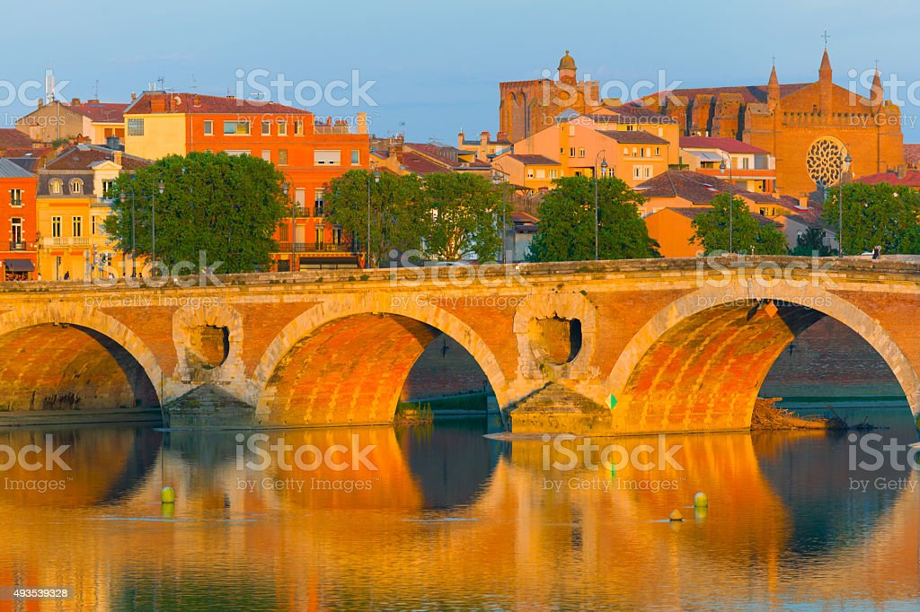 Toulouse in a summer evening stock photo