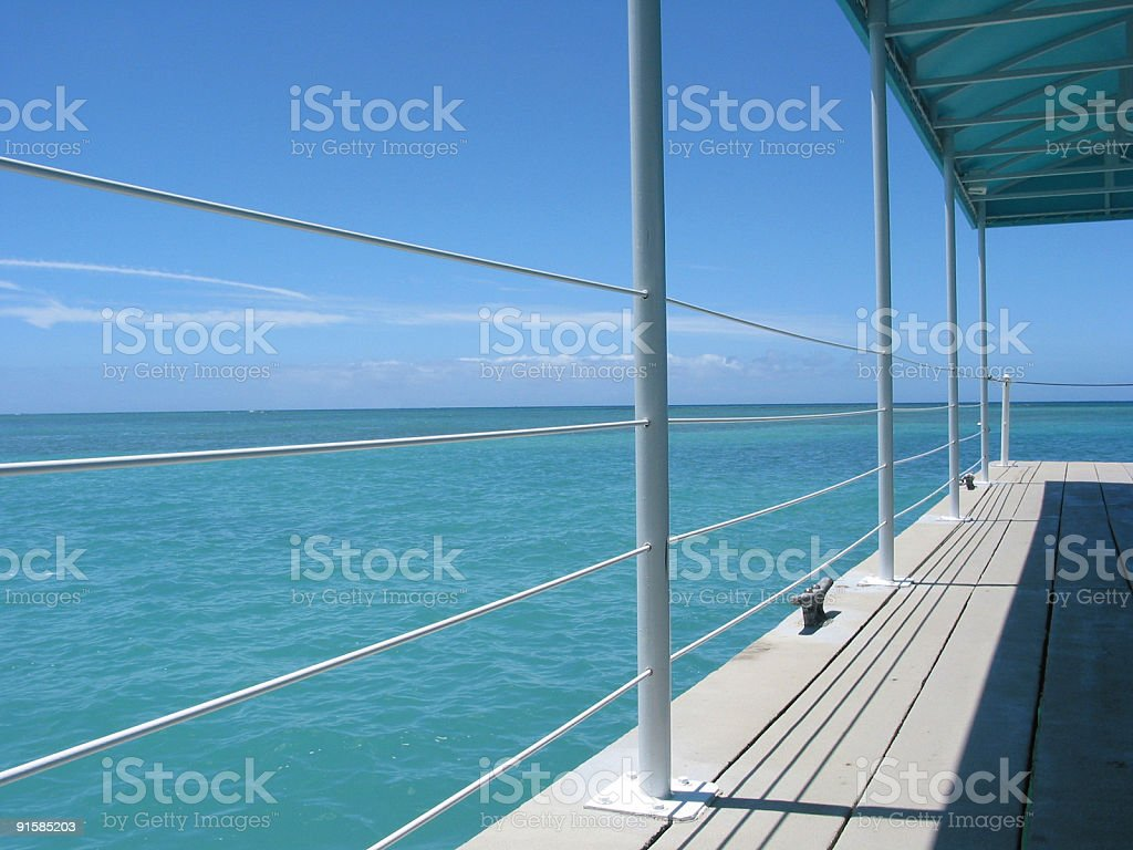Tour Boat Dock #2, Honolulu, Hawaii stock photo