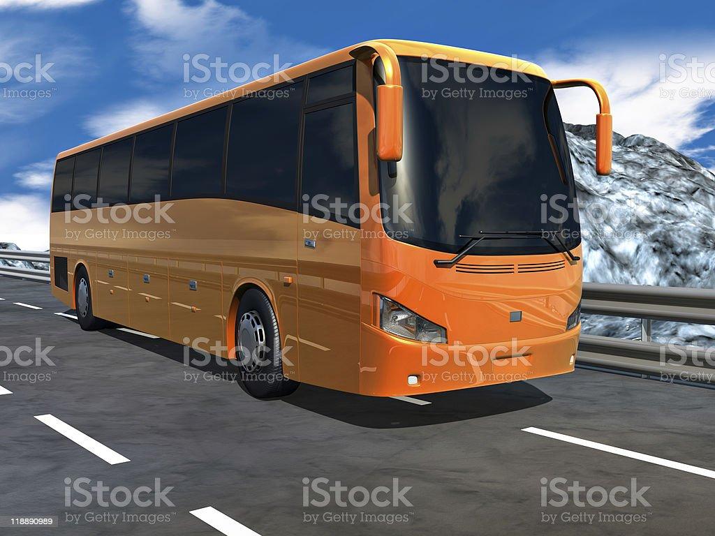 3D Tour bus royalty-free stock photo