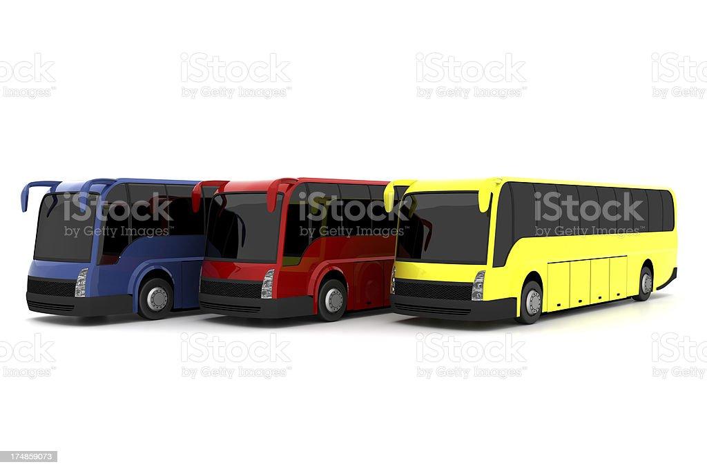 Tour buses royalty-free stock photo