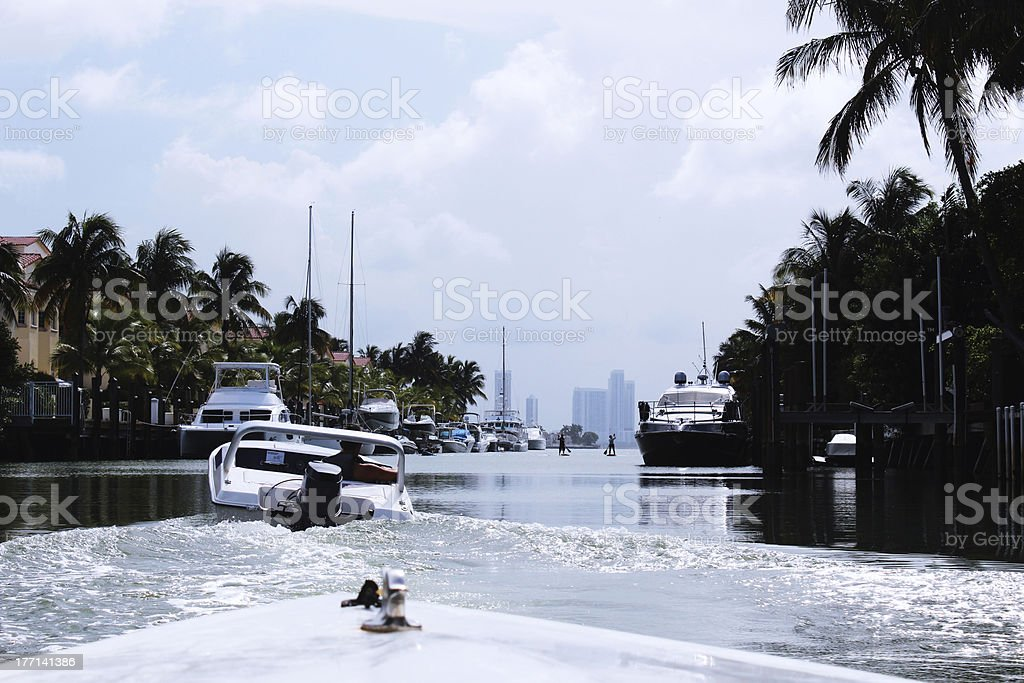 Tour by speed boat through the canals royalty-free stock photo