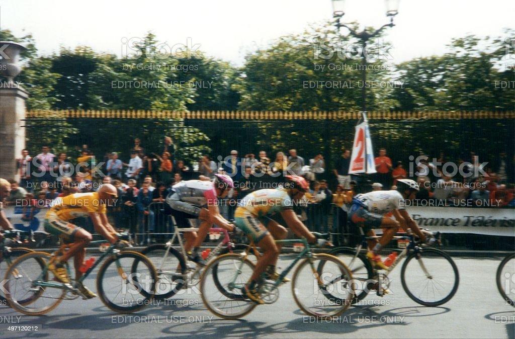 Tour De France 1998, Marco Pantani champion at Champs Elysees stock photo