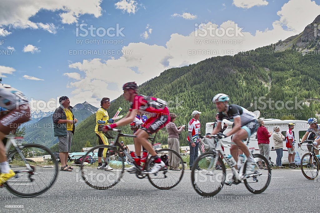 Tour de France 2011 Hillclimb to Col d'Izoard Alps stock photo