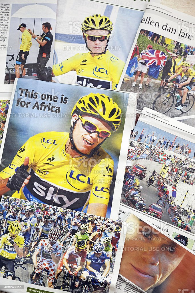 Tour de France 2013 # 3 XXXL royalty-free stock photo