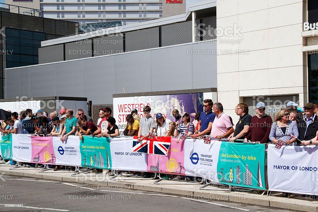 Tour De France 2014 a Stratford di Londra foto stock royalty-free