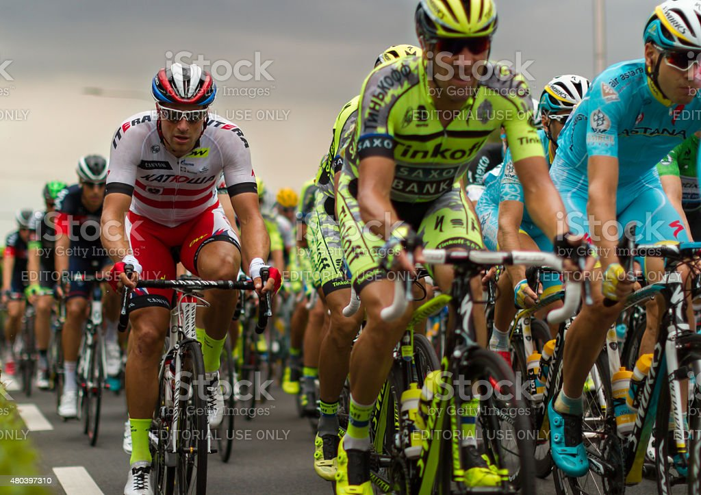 Tour de France 2015, 2nd stage at Gouda stock photo