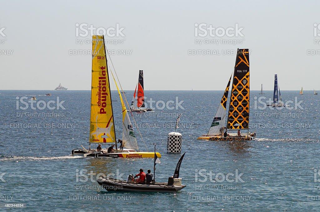 Tour de France a la Voile stock photo