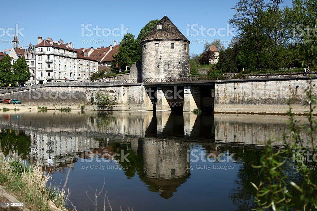 Tour de la Pelote in Besançon stock photo