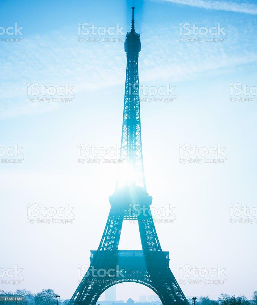 Tour Eiffel at dusk stock photo