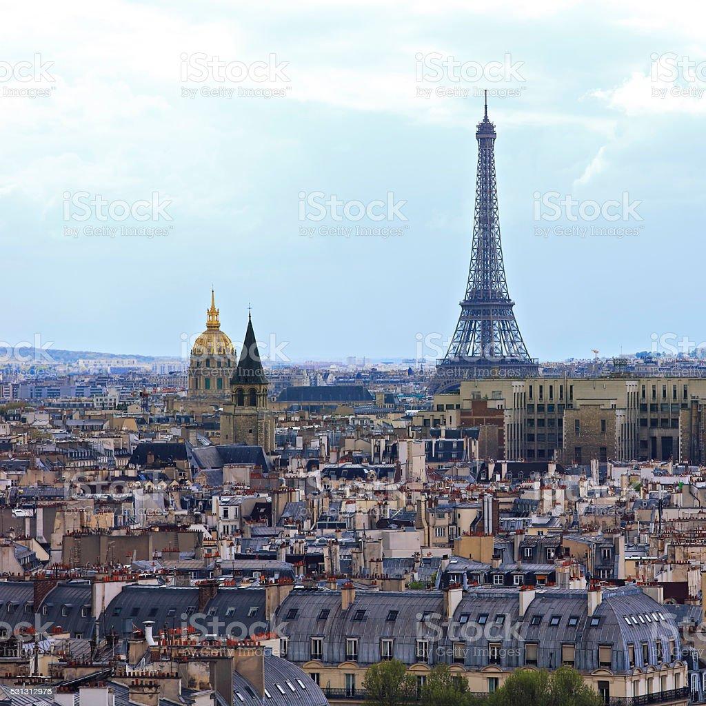 Tour Eiffel in Paris stock photo