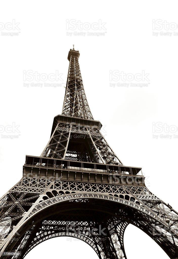 Tour eiffel isolated on white royalty-free stock photo