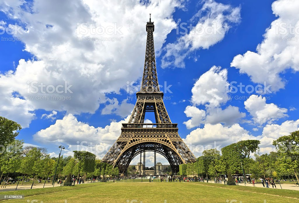 Tour Eiffel, Paris Best Destinations in Europe stock photo