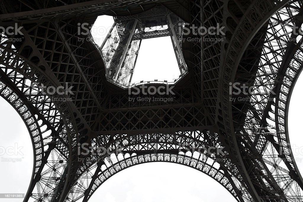 Tour Eiffel, partial view royalty-free stock photo