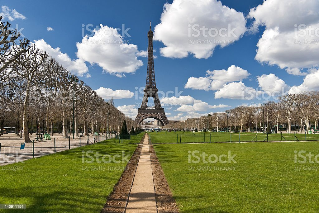 Tour Eiffel view in spring royalty-free stock photo