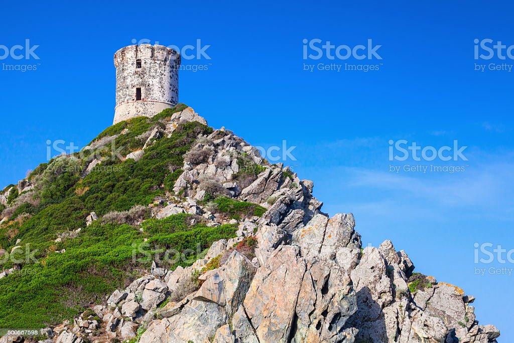 Tour Parata. Ancient Genoese tower in Ajaccio stock photo