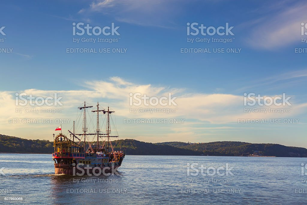 Tour with a pirate ship stock photo