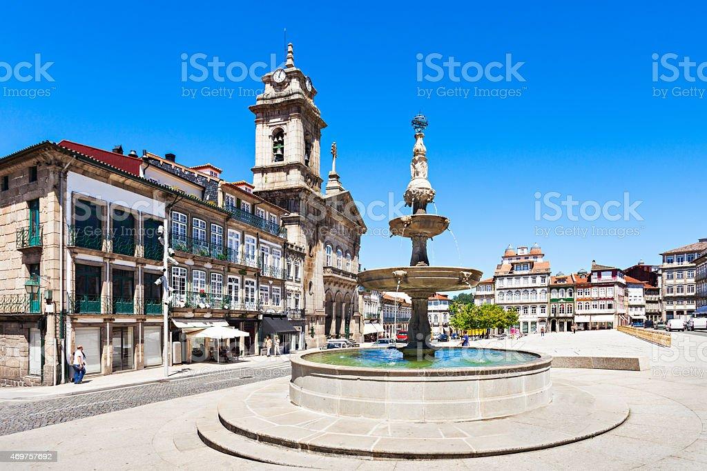Toural Square, Guimaraes stock photo