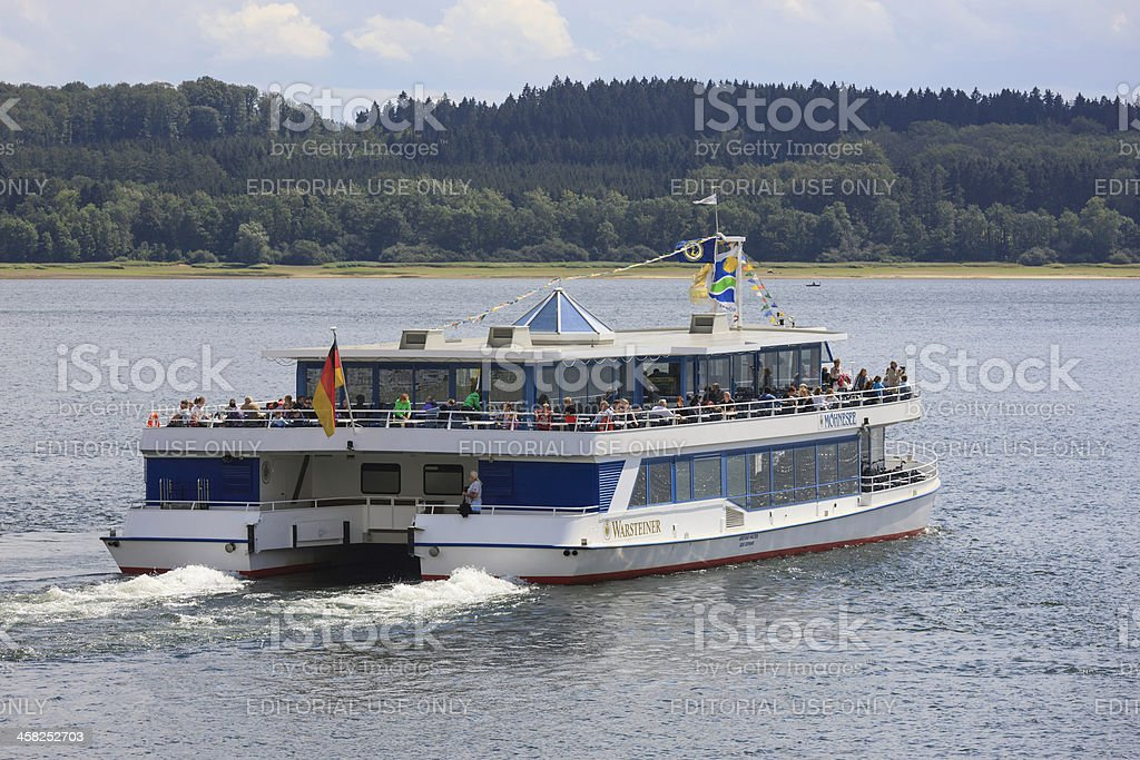 Tourboat at lake Möhne, Germany royalty-free stock photo