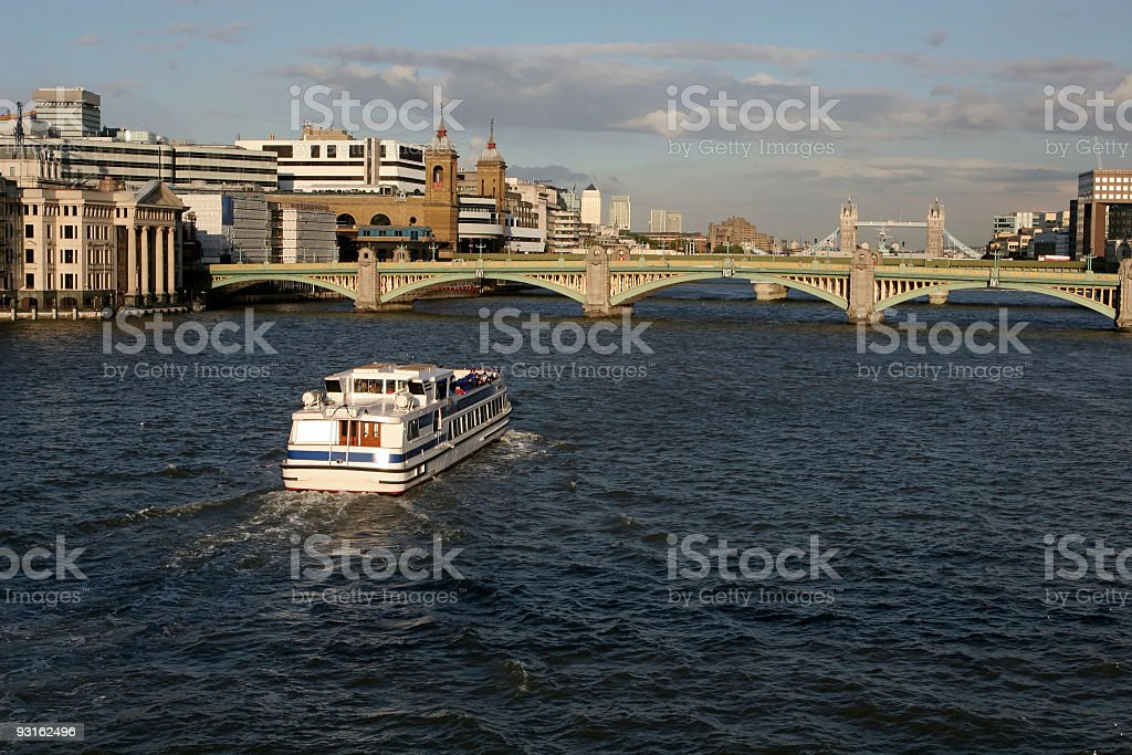 Tourboat on The Thames, London royalty-free stock photo