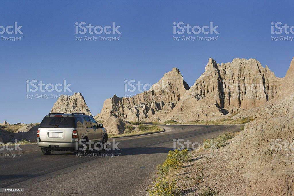 Touring Badlands South Dakota royalty-free stock photo