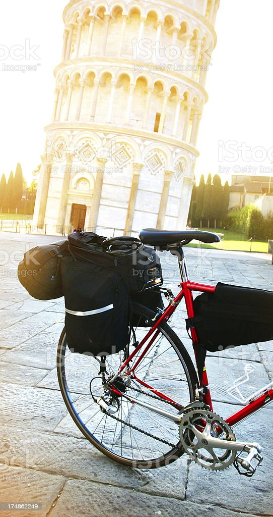 Touring bicycle in Pisa, Italy royalty-free stock photo