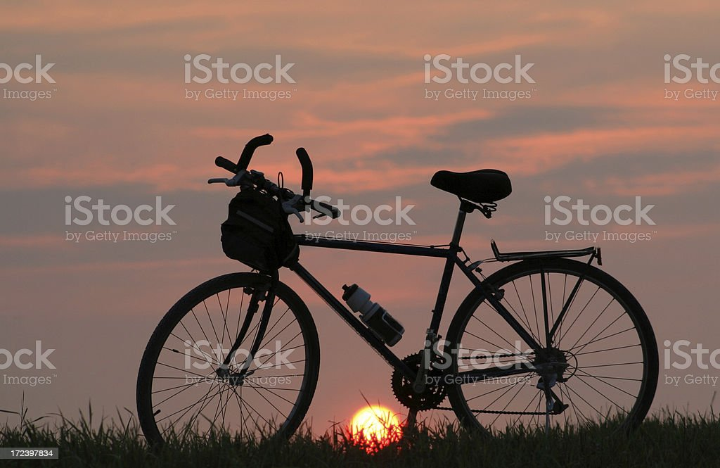 Touring Bicycle royalty-free stock photo