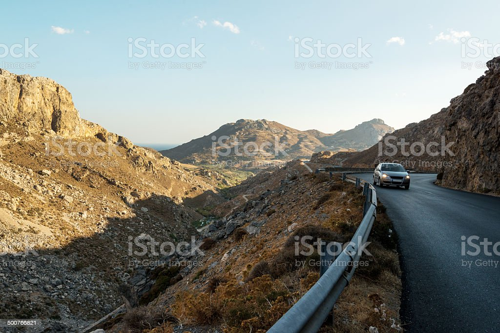 Touring Crete stock photo