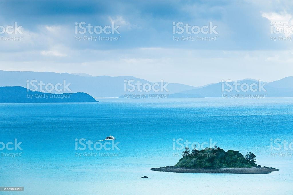 Touring Hamilton Island stock photo