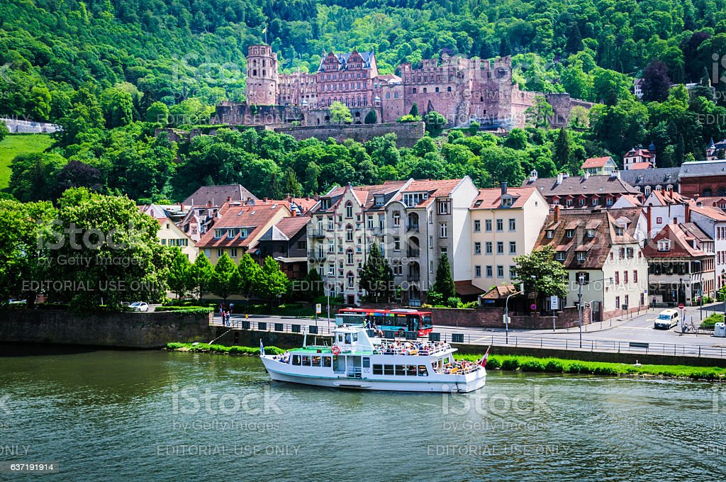 Touring Heidelberg stock photo