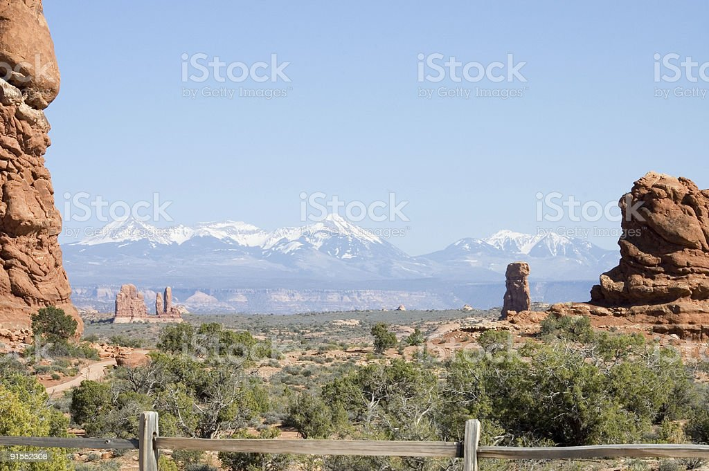 Touring in Arches National Park 12 stock photo