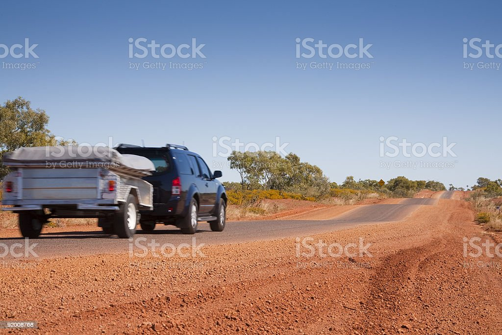 Touring in Outback Australia stock photo
