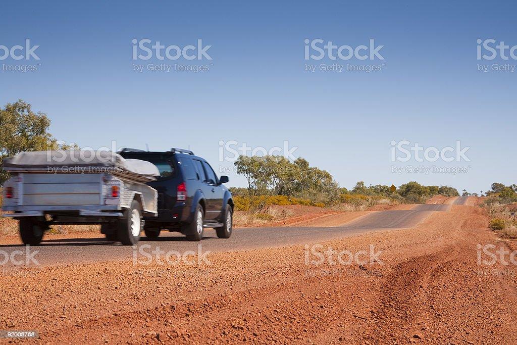 Touring in Outback Australia stock photo