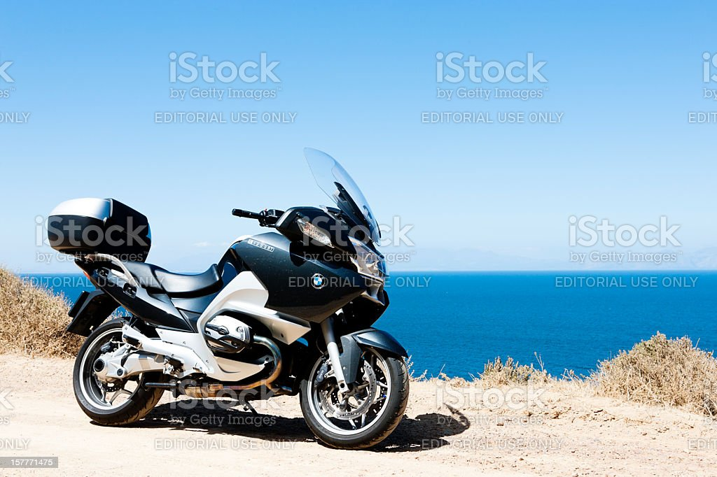 BMW R1200RT touring motorcycle stock photo