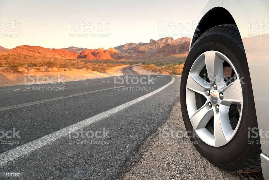 Touring on Open Road stock photo