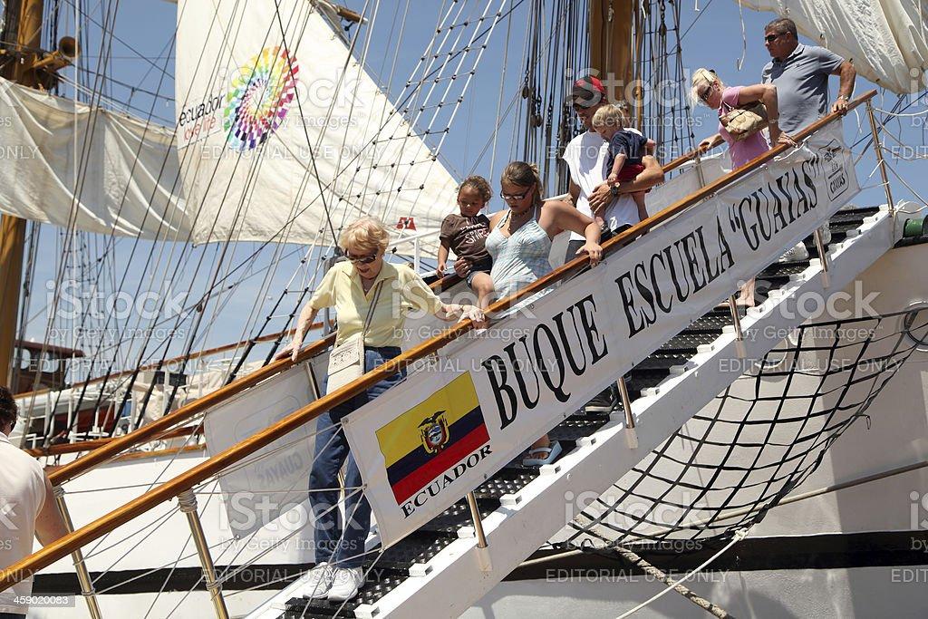 Touring Ship stock photo