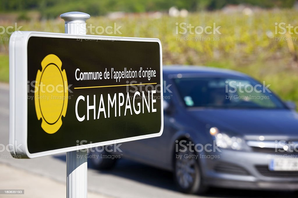 Touring the Champagne Region stock photo