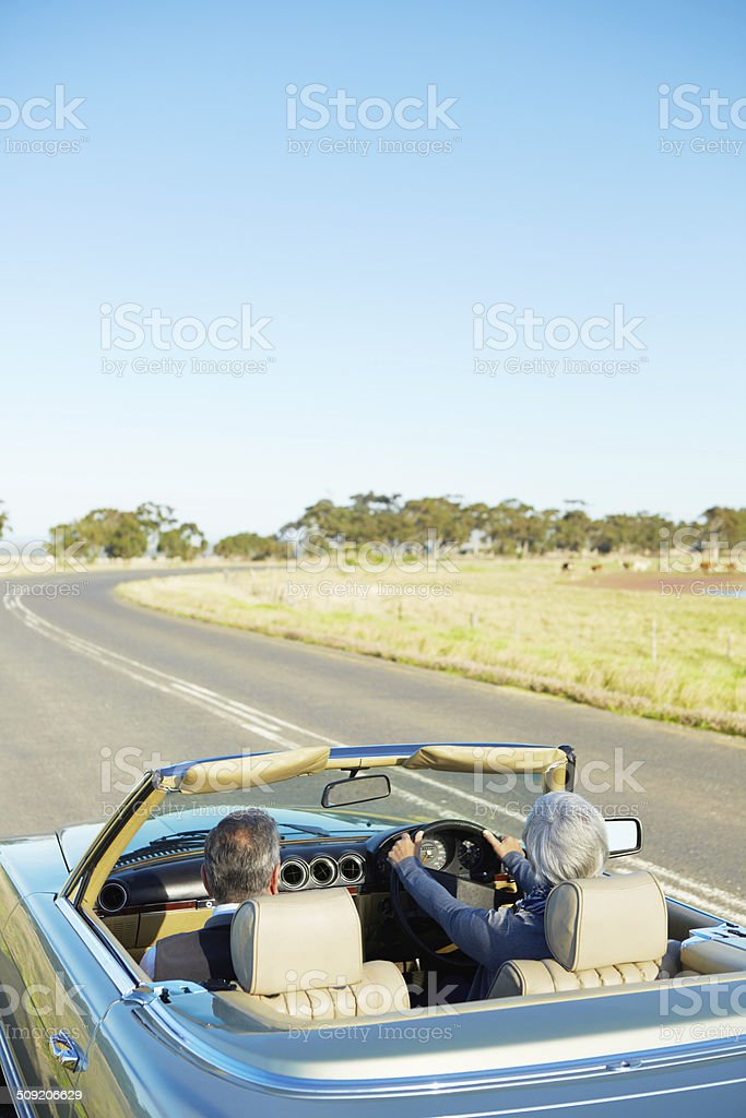 Touring the country by road royalty-free stock photo