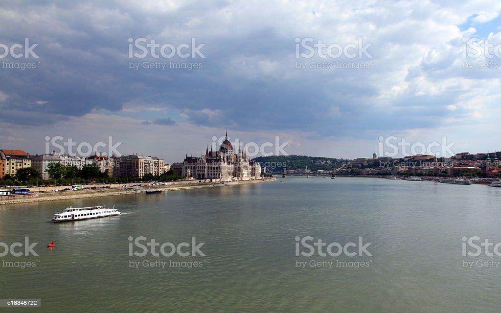 Touring the Danube stock photo