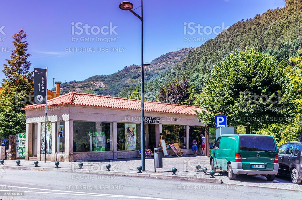 Tourism and crafts centre in Peneda-Geres Park, Portugal stock photo