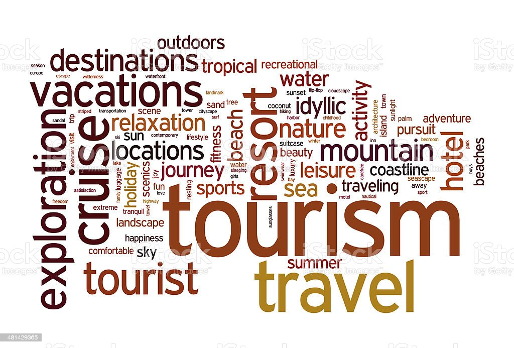 Tourism and travel concept stock photo